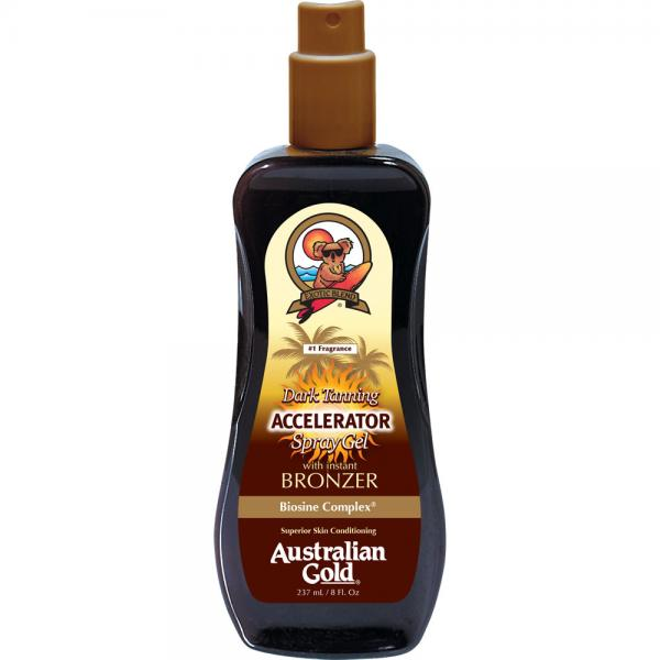 Australian Gold Dark Tanning Accelerator Spray Gel with bronzer (237 ml)
