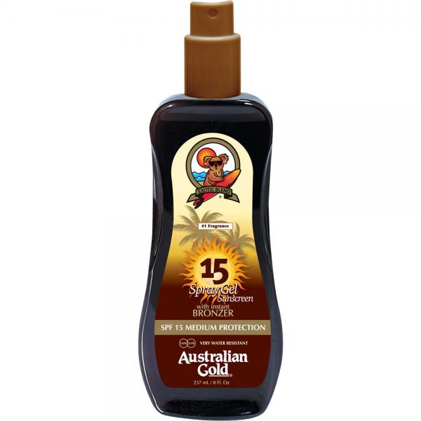 Australian Gold SPF 15 Spray Gel + Bronzer (237 ml)