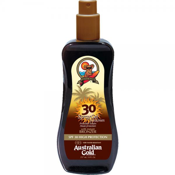 Australian Gold SPF 30 Spray Gel + Bronzer (237 ml)