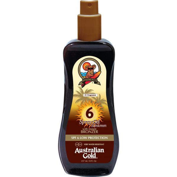 Australian Gold SPF 6 Spray Gel + Bronzer (237 ml)