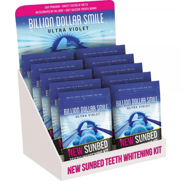 Billion Dollar Smile UV Sunbed Teeth Whitening Display Deal (10 Kits)