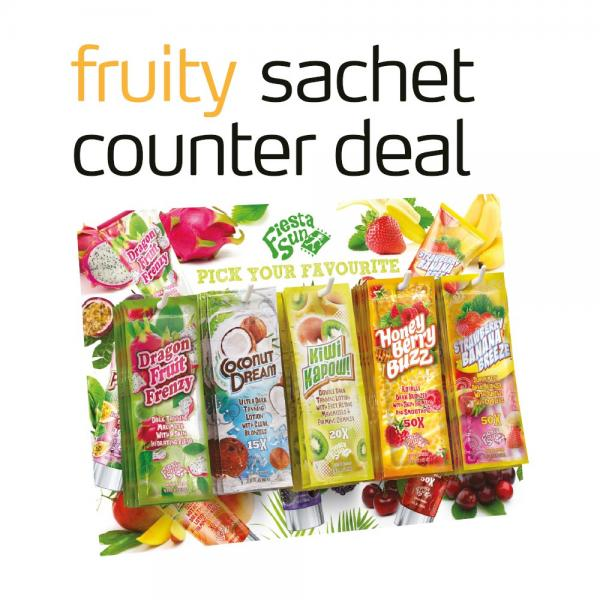 Fiesta Sun 'Fruity' Sachet Counter Deal 2018