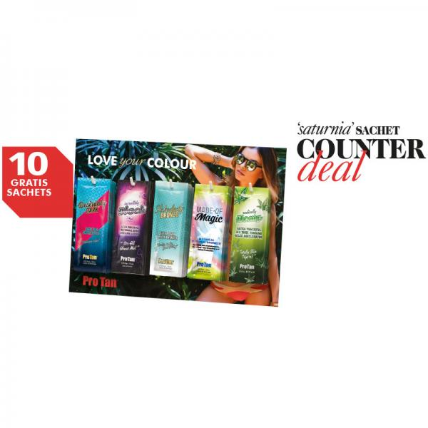 Pro Tan Saturnia Sachet Counter Deal 2020