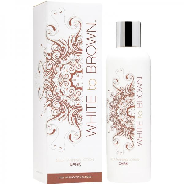 WHITE to BROWN SELF TANNING LOTION - DARK (250 ml)