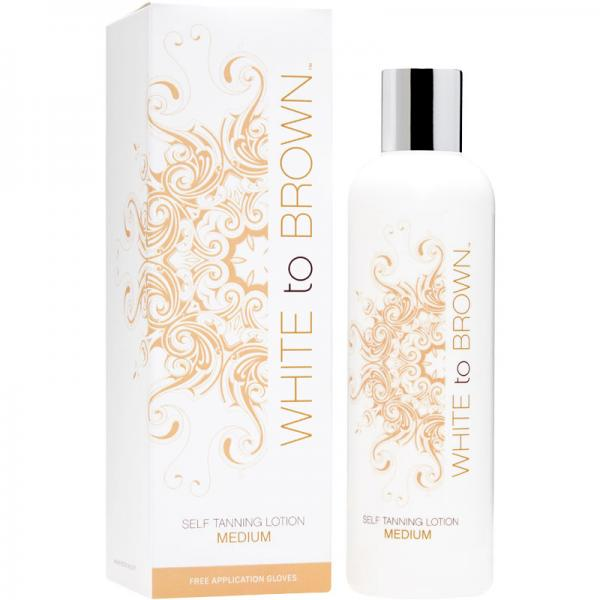 WHITE to BROWN SELF TANNING LOTION - MEDIUM (250 ml)