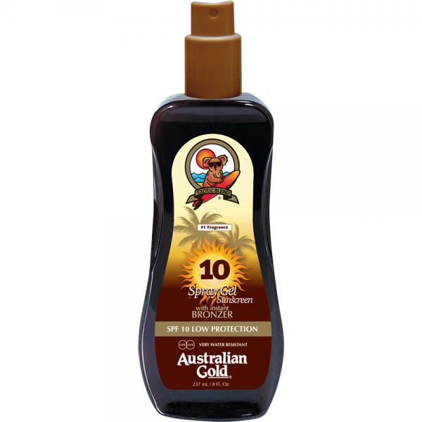 Australian Gold SPF 10 Spray Gel + Bronzer (237 ml)