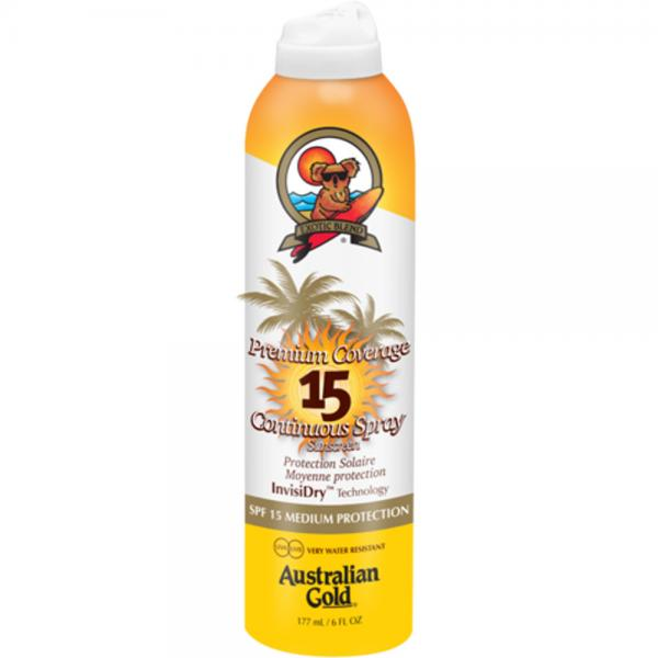 Australian Gold SPF 15 Premium Coverage Continuous Spray  (177 ml)