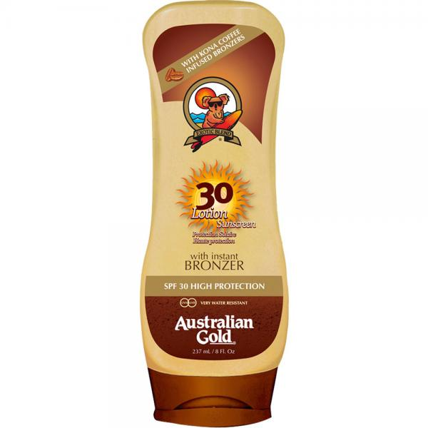 Australian Gold SPF 30 Lotion + Bronzer (237 ml)