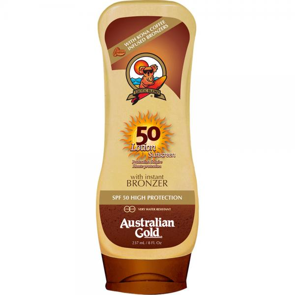 Australian Gold SPF 50 Lotion + Bronzer (237 ml)