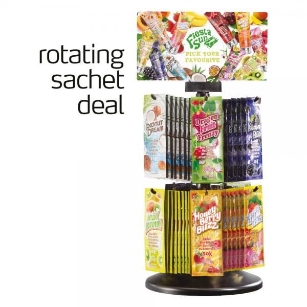 Fiesta Sun 'Fruity' Rotating Sachet Deal 2019