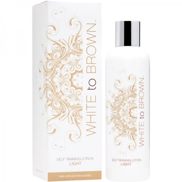 WHITE to BROWN SELF TANNING LOTION - LIGHT (250 ml)